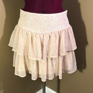 Sz M Delia's Ruffle Midi Skirt